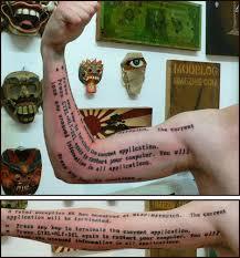 particular tattoos