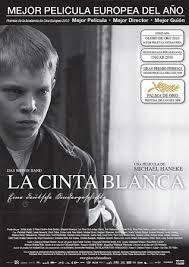 Cartel de la película, La cinta blanca, 2009.