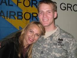 Lara Logan and a soldier