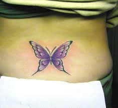 Butterfly Lower Back Tattoos-25