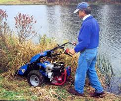 He is using the BCS tractor