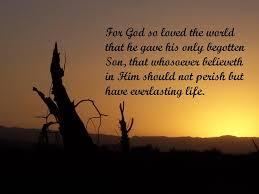 John 3:16 verse about Gods