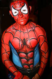 Body Painting Spider Man