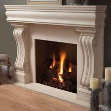 white concrete fireplace under wall mounted tv combined with f