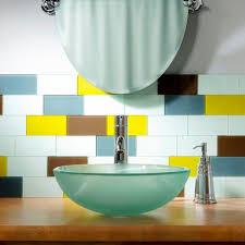 aspect 3 in x 6 in glass decorative wall tile in glacier 8 pack
