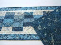 Quilted Table Runners by Blue Batik Quilted Table Runner U2013 Patchwork Mountain