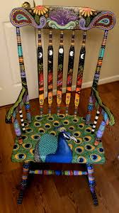 Silk Peacock Home Decor by Diy Chair U0026 Furniture Art Look At What A Little Paint And Fabric