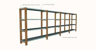 ana white easy economical garage shelving from 2x4s diy projects