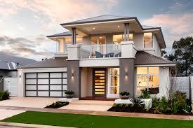 bluestone modern house exterior with balcony u0026 feature lighting
