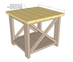 Bedroom Set Plans Woodworking Ana White Build A Rustic X End Table Free And Easy Diy Project