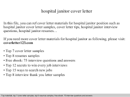 Janitor Sample Resume by Hospital Janitor Cover Letter In This File You Can Ref Cover