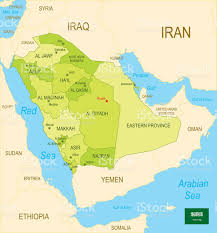 Jordan Country Map Detailed Map Of Saudi Arabia Stock Vector Art 499694963 Istock