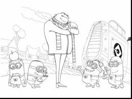 beautiful despicable me minions coloring pages with despicable me