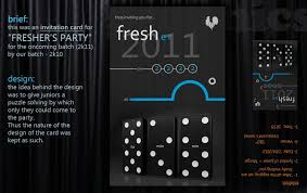 Invitation Cards Sample Format Invitation Card For Freshers Party Visual Ly