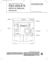 rxd a55 a75 service manual xd a55 a75 mini hifi component system