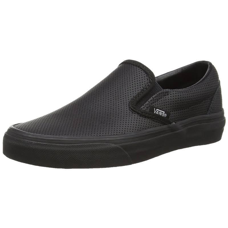 Vans Classic Slip-On (Black/Black) Skate Shoes-11.5