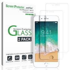 amazon com iphone 8 7 6s 6 screen protector glass amfilm
