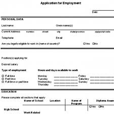 Resume Application For Job by Download A Free Sample Blank Employment Application So You Can