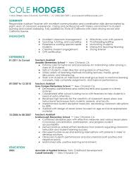 What Is Job Profile In Resume by 12 Amazing Education Resume Examples Livecareer