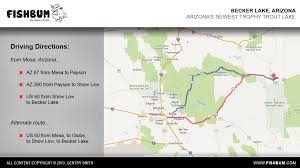 Payson Arizona Map by Becker Lake Presentation Fishbum