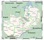 ザンビア:ザンビア共和国の行政区分図です