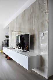 Tv Cabinet Wall Design Tv Wall Marble Panels Led Light Integrated Television