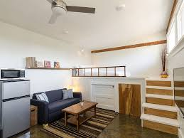 tiny studio dwelling with approximately 250 sq ft of living space