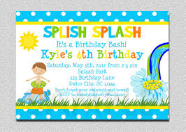 Birthday Invitation Cards For Kids Funny Beach And Pool Invitation Card Design Ideas To Inspire You