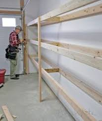Free Woodworking Plans Wall Shelf by Best 25 Garage Shelving Plans Ideas On Pinterest Building