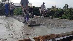 low cost house construction pouring concrete flat roof house