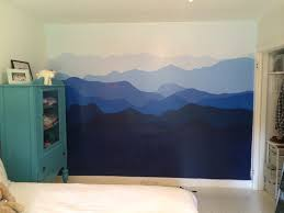 blue ridge mountains painted on bedroom wall interiors blue ridge mountains painted on bedroom wall blue ridge mountainsmural ideasbedroom