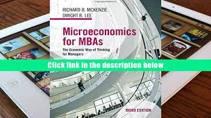 free download microeconomics for mbas the economic way of