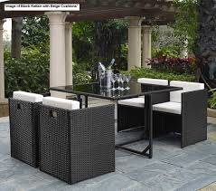 Patio Furniture Set Cube Rattan Garden Outdoor Furniture Chairs Patio 4 Chair Set Fast