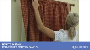 how to install drapery panels video rod pocket window curtains