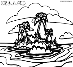 island coloring pages chuckbutt com