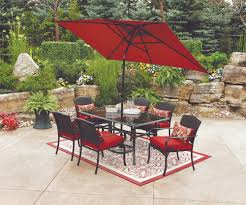 Patio Furniture From Walmart - exterior design exciting striped walmart umbrella with wicker