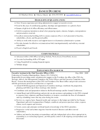 Executive Assistant Job Resume by Skills For An Administrative Assistant Resume Resume For Your