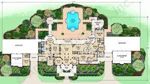 backyard courtyard house floor plans