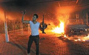 mission in Benghazi burns