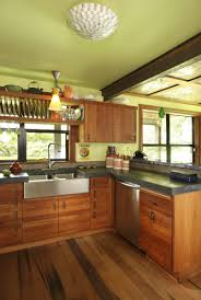 wood floors wood cabinets concrete countertop things i want