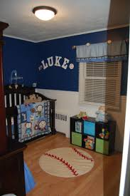 baby nursery decor blue wallpaper baby boy sports nursery