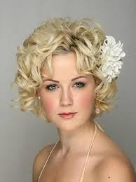 wedding hairstyles ideas side ponytail messy curly ends short
