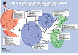 North Shore Chicago Map by U S Soccer Development Academy