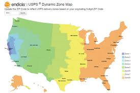 Map Pricing Endicia U0027s Dynamic Zone Map Takes The Guesswork Out Of Delivery