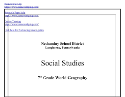 th grade world geography              SlideShare Homework Help https   www homeworkping com  Research Paper help https
