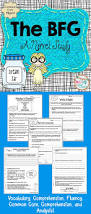 the bfg novel study unit comprehension vocabulary activities