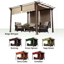 Pergolas Home Depot by Universal Designer Replacement Pergola Shade Canopy Ii Garden Winds