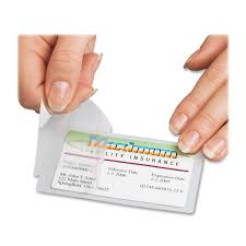How To Laminate Business Cards Universal Clear Laminating Pouches 5 Mil 2 25 X 3 75 Fellowes