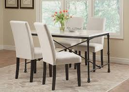 Commercial Dining Room Tables Nagel Dining Room Set W Commercial Grade Ivory Chairs Coaster