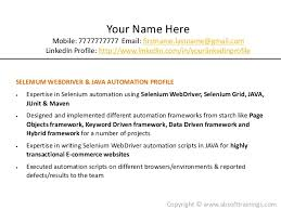 Sample Resume Of Manual Tester by Manual Testing Experienced Resume Software Bug Roles And